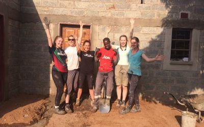 GMIT's Habitat for Humanity Society volunteer in Zambia
